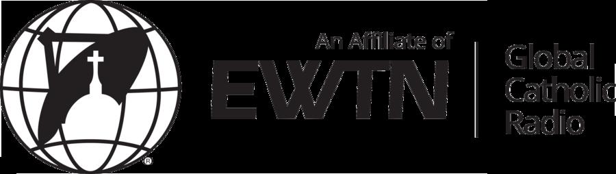 Ewtn Radio Affiliate Logo Horizontal Black
