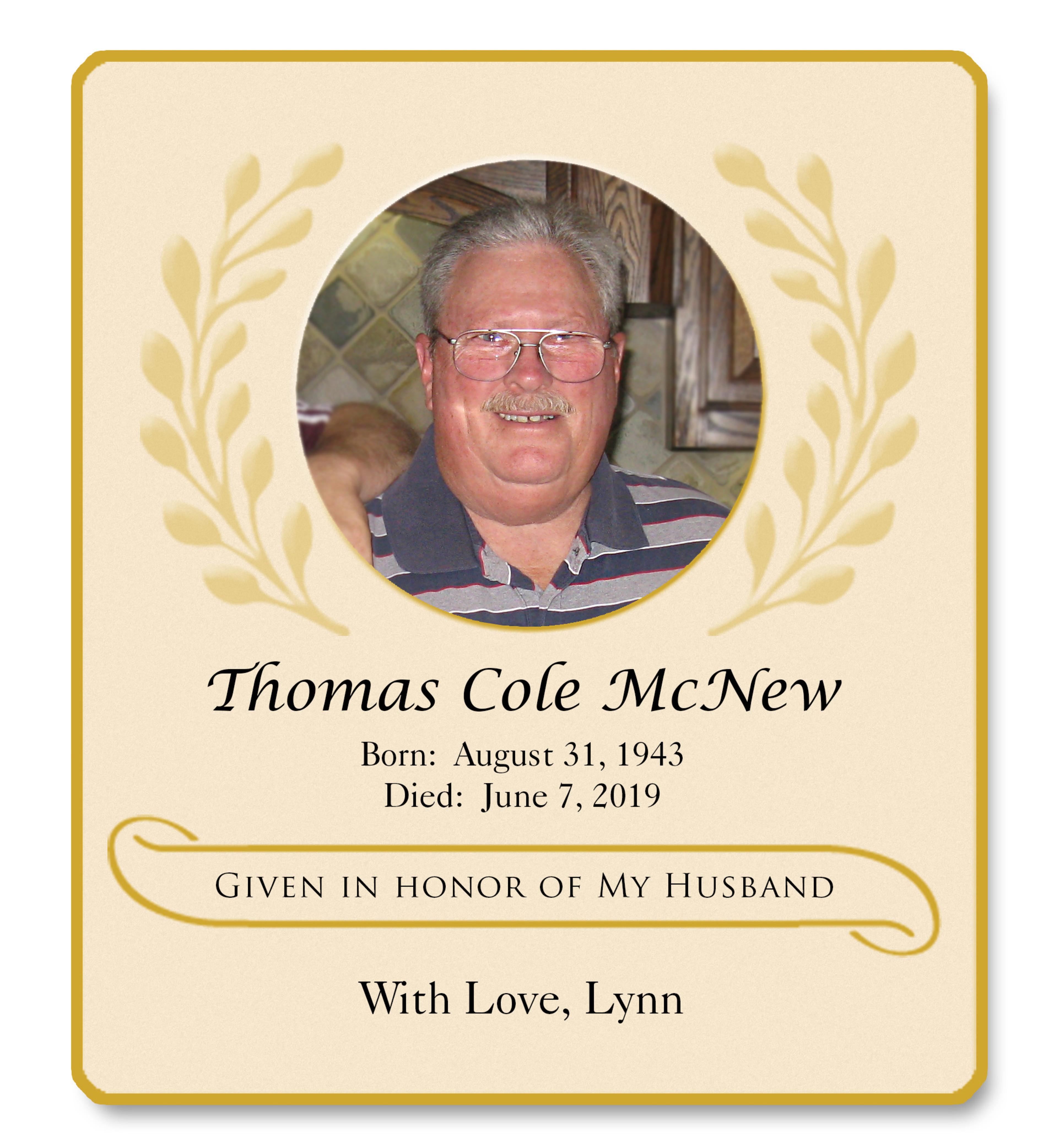 Mcnew Tom Memorial
