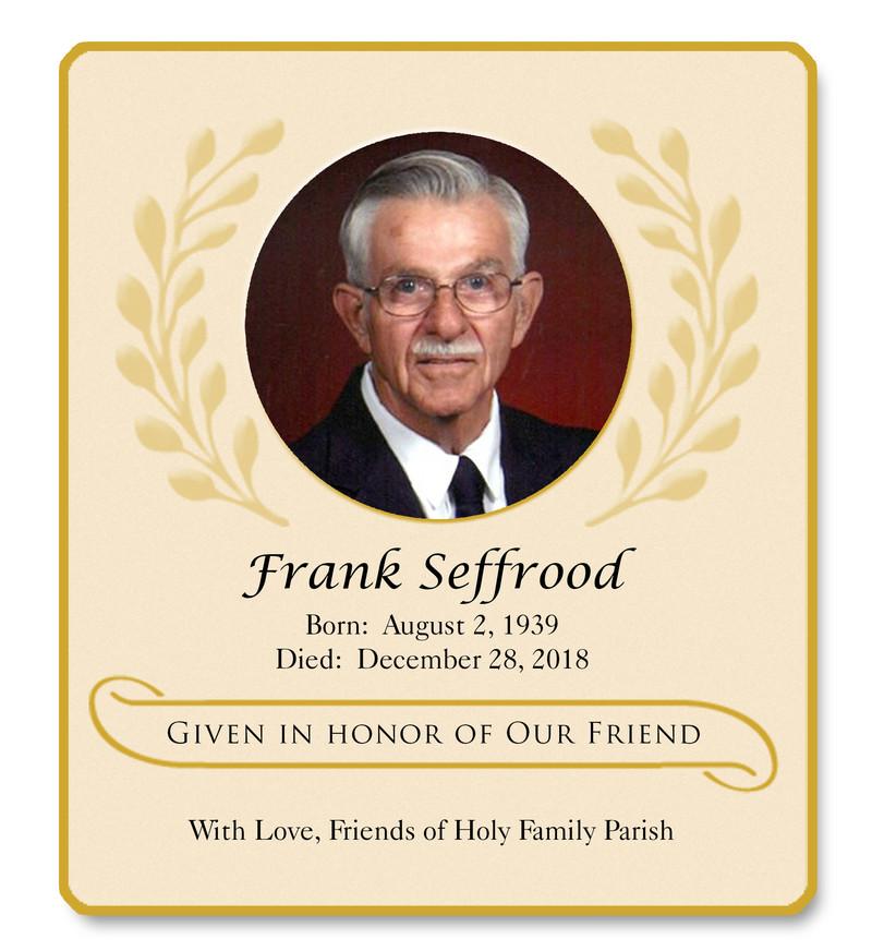 Seffrood Frank Memorial